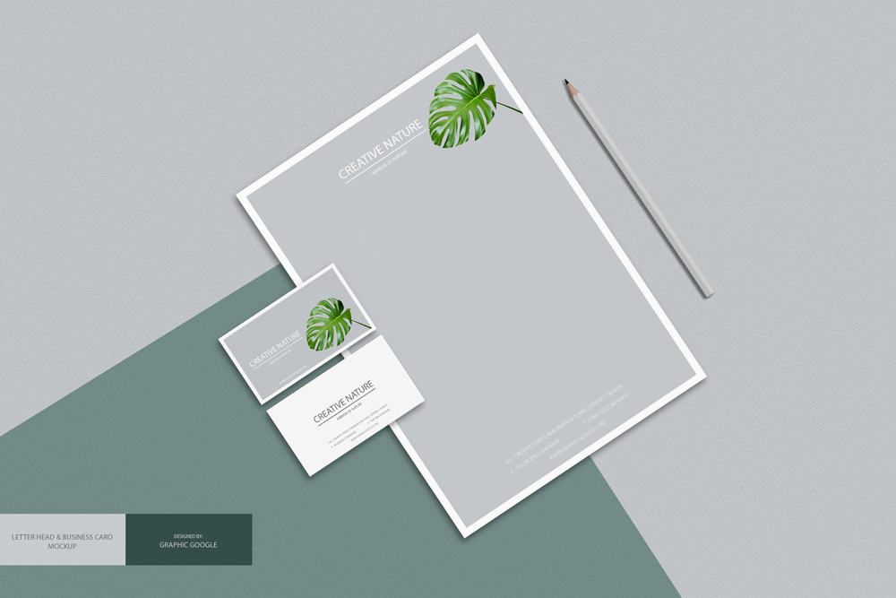 Free letter head and business card mockup psd mockup pinterest free letter head and business card mockup psd reheart Image collections