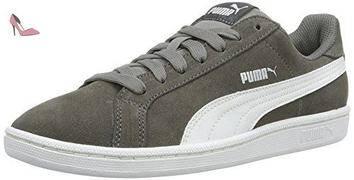 Puma Smash Sd, Sneakers Basses Mixte Adulte, Gris (Steel Gray-Puma White