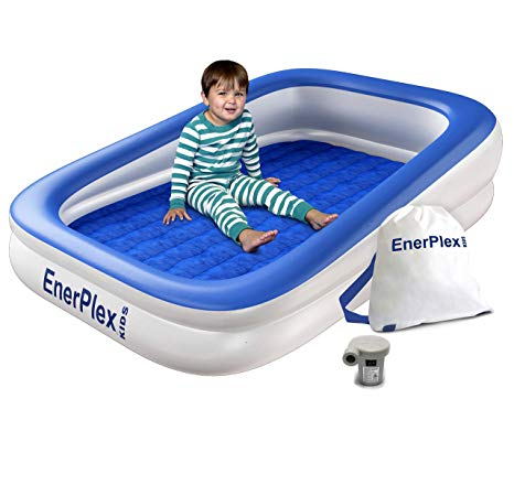 Amazon Com Enerplex Kids Inflatable Toddler Travel Bed With High Speed Pump Portable Air Mattress For Toddler Travel Bed Portable Toddler Bed Toddler Travel