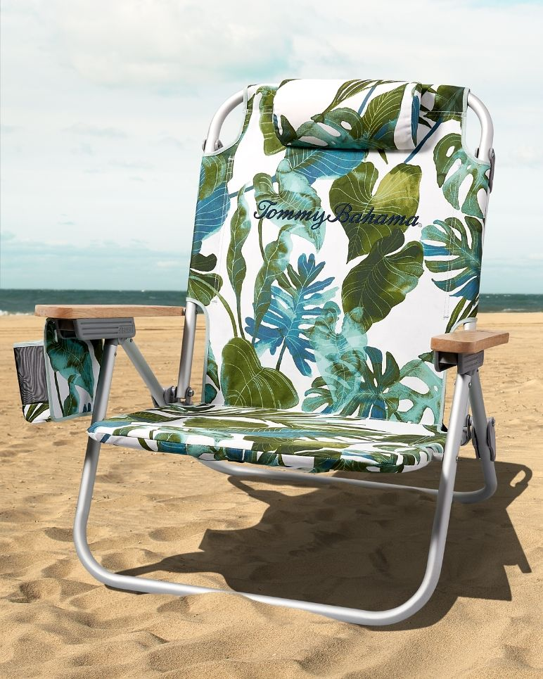 villa fronds deluxe backpack beach chair from tommy bahama