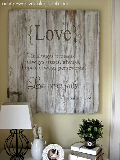 18 Great Diy Love Signs The Crafted Sparrow Decor Crafts Diy Projects