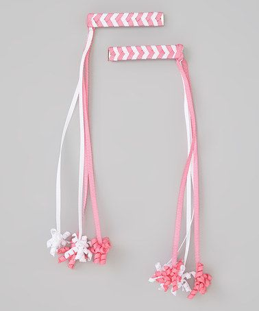 Love this Pink Korker Barrette Set by Bubbly Bows on #zulily! #zulilyfinds
