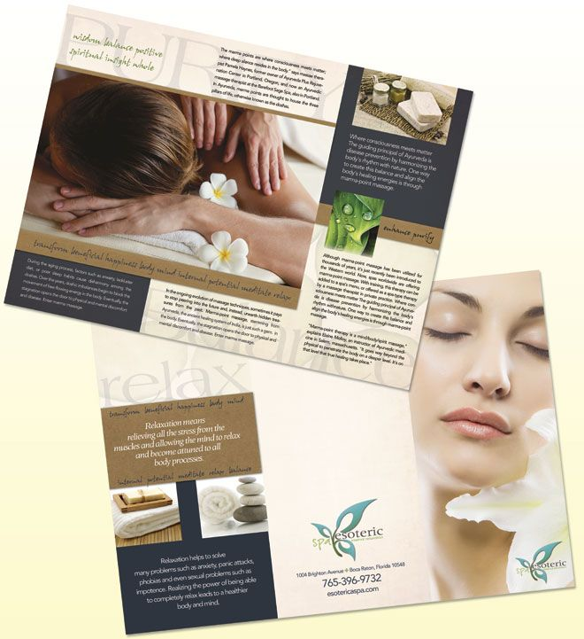 Spa Brochure Template Natural Day Spa Massage Brochure Template