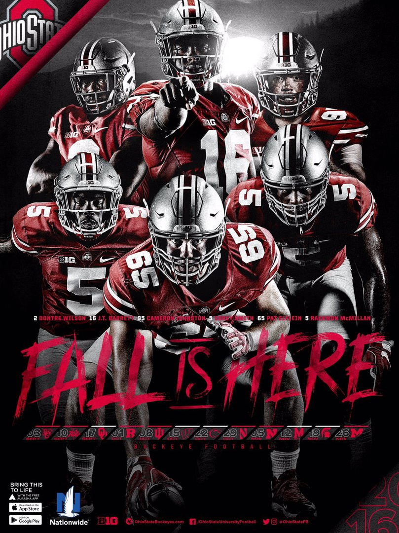2016 FALL IS HERE SCHEDULE POSTER BY SAMUEL SILVERMAN ...
