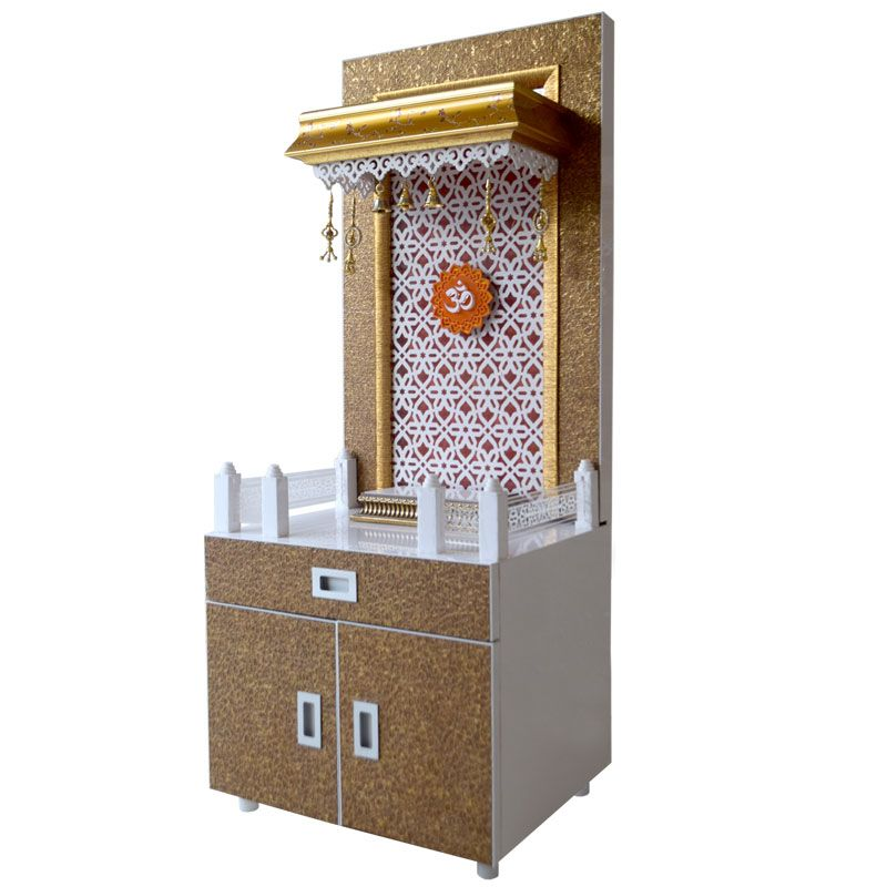 Wooden Pooja Mandir 4 Ft Height With Exc Puja Room Design Pinterest Puja Room Room And