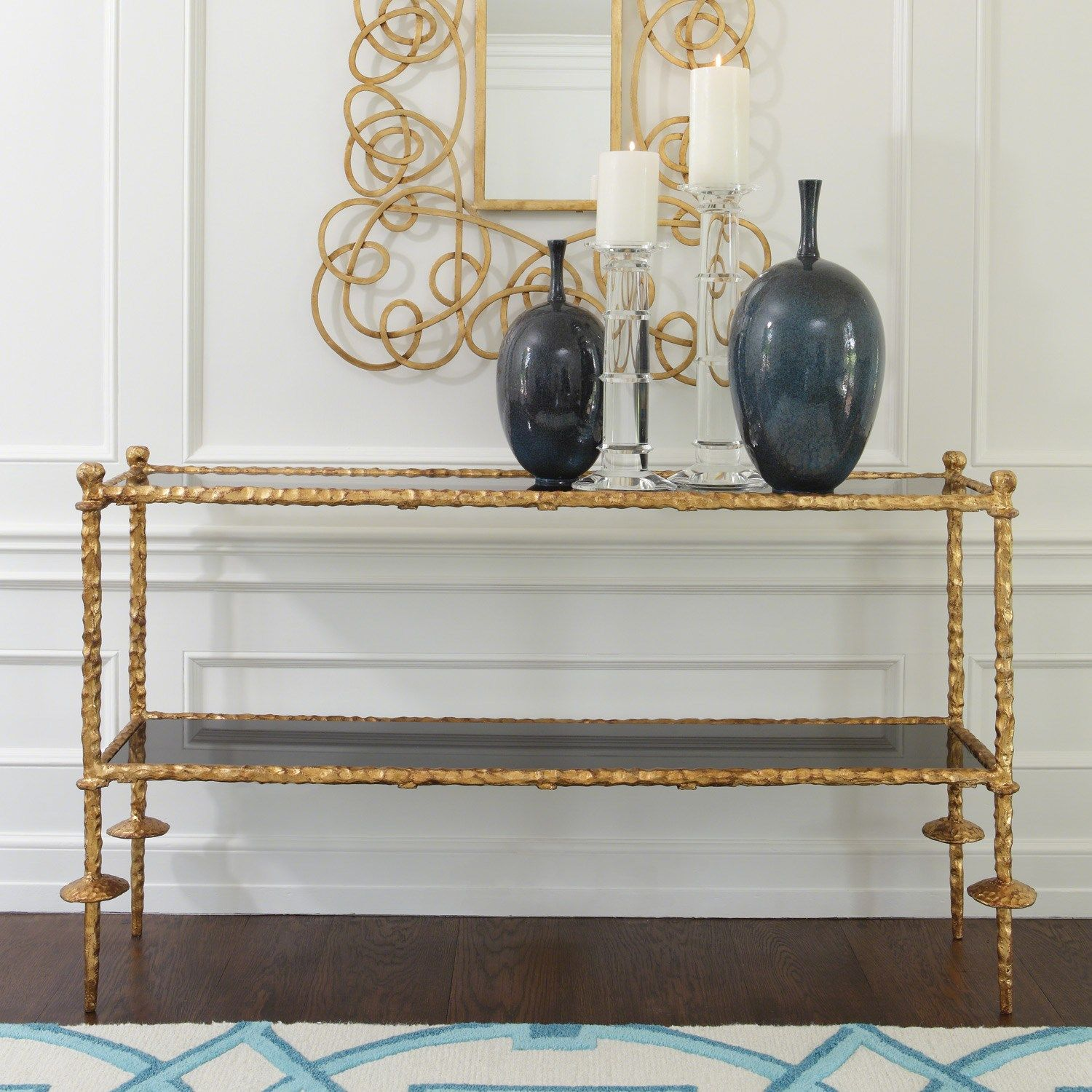Delicieux Global Views Furniture Chiseled Gold Console Table Found On Layla Grayce # Laylagrayce #globalviews #decor | {Furnishings} | Pinterest | Console  Tables, ...