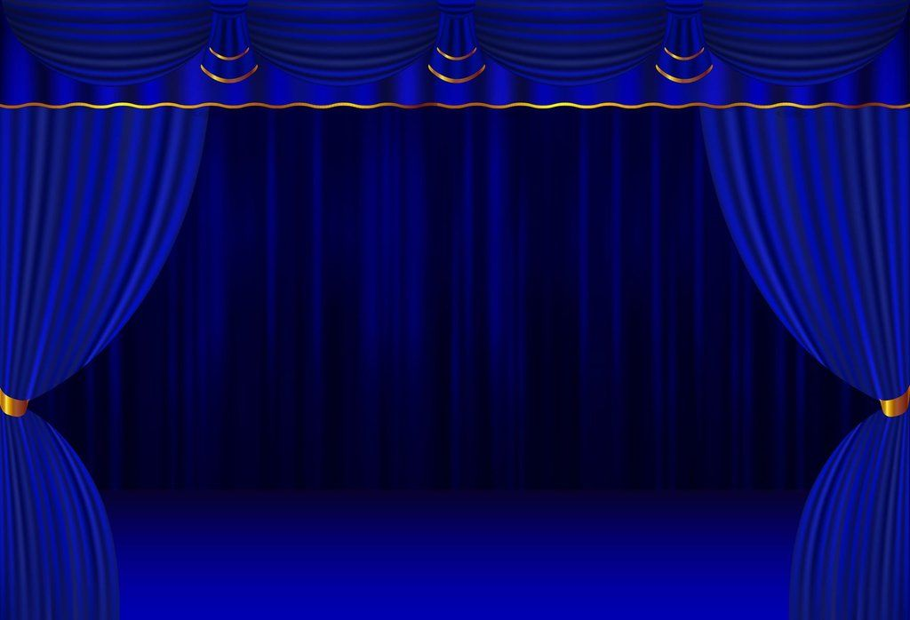 Blue Curtain Stage Backdrop for Events Dance or Theater H