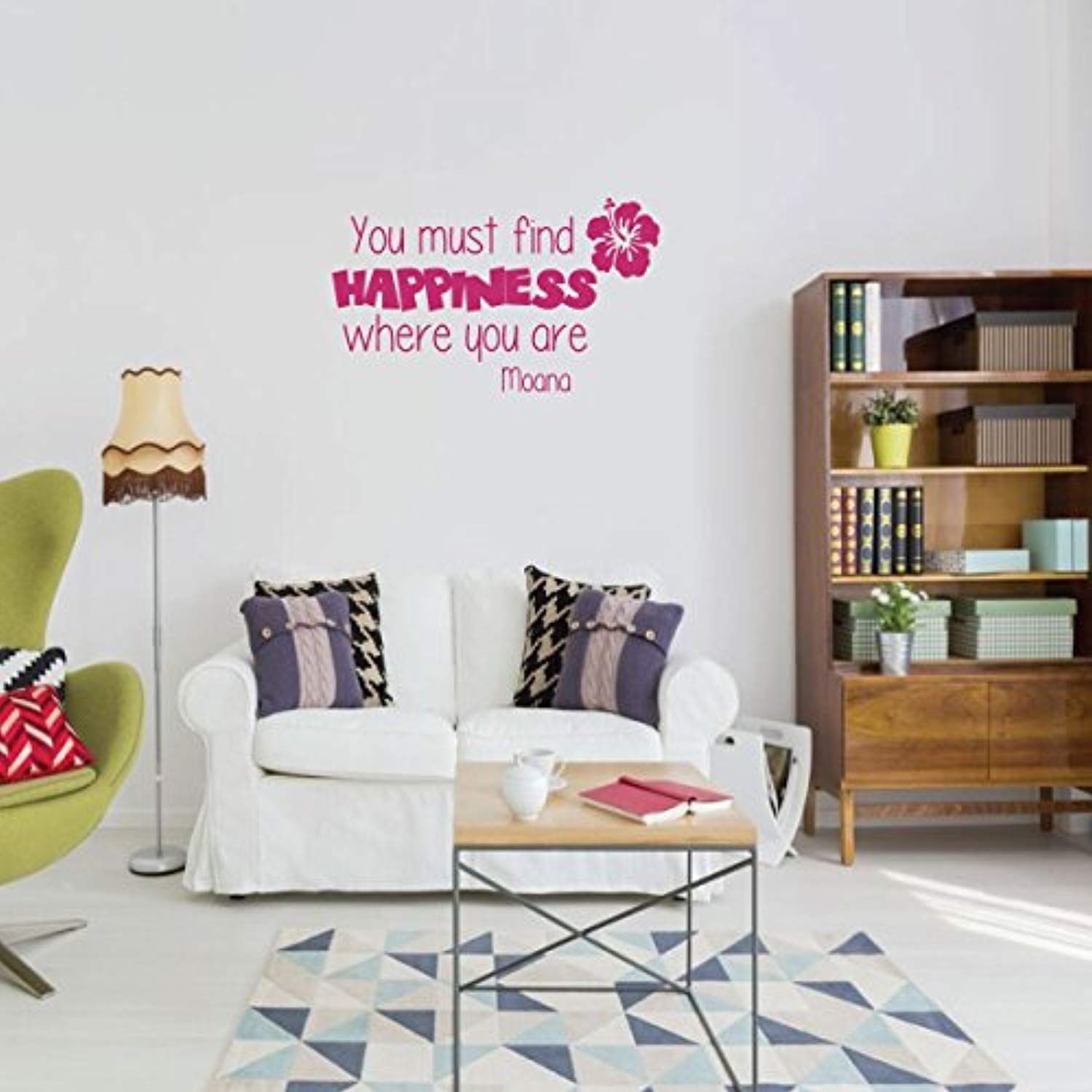moana wall decal quote  you must find happiness  vinyl