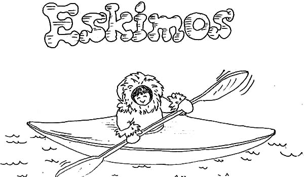 Pin Di Eskimo Girl Coloring Pages