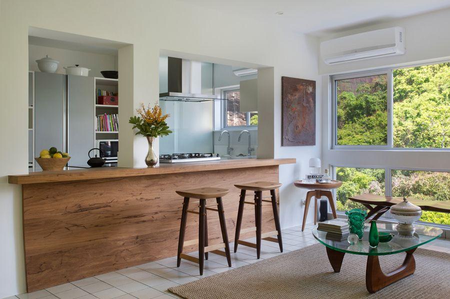 Cucina che affaccia sul soggiorno | Cucine aperte, Angolo ...