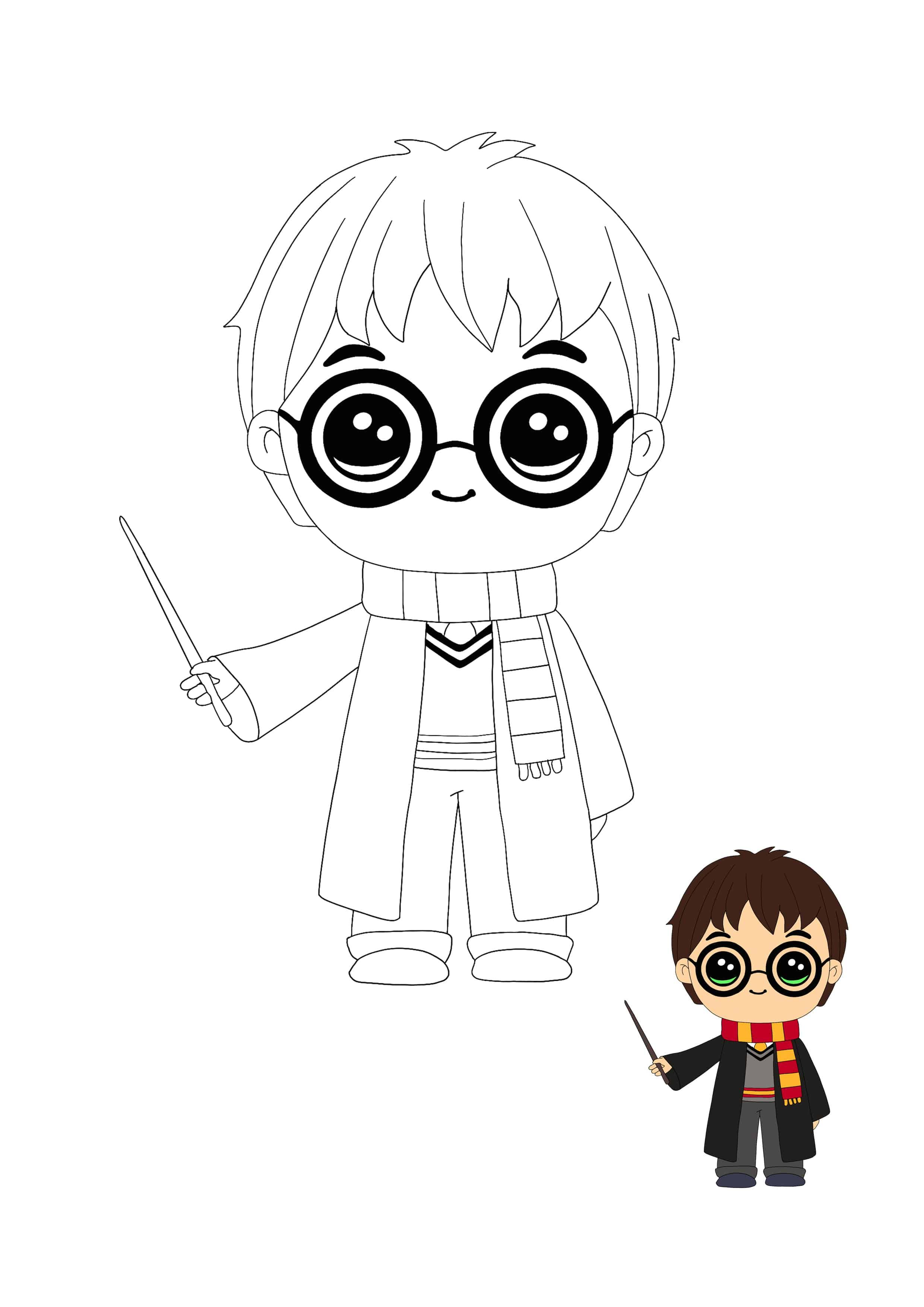 Kawaii Harry Potter Coloring Sheet Harry Potter Coloring Pages Harry Potter Colors Kawaii Coloring Pages