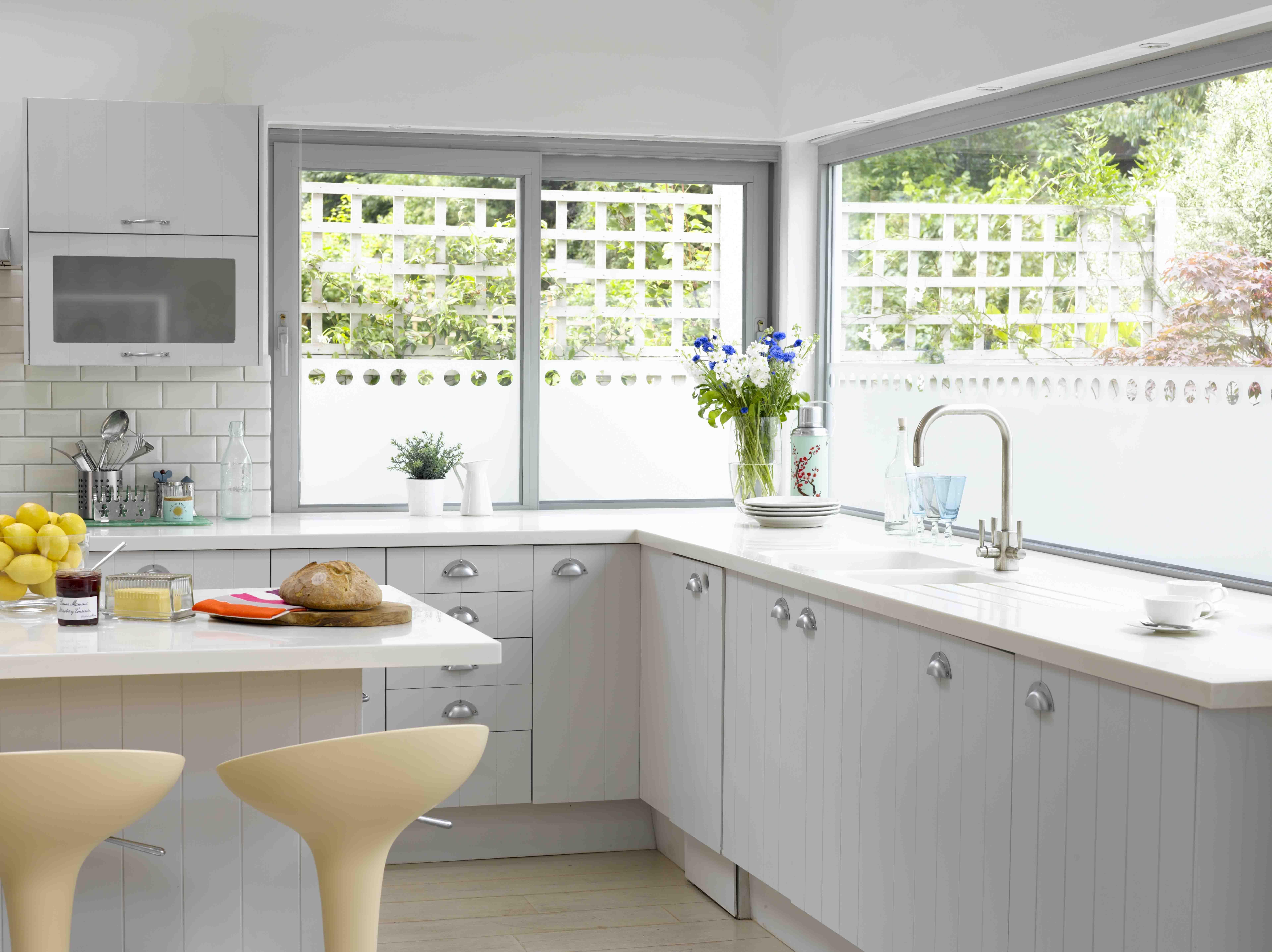 Bemerkenswert Küchenfenster Ideen Und Fenster Behandlung Lösung ...