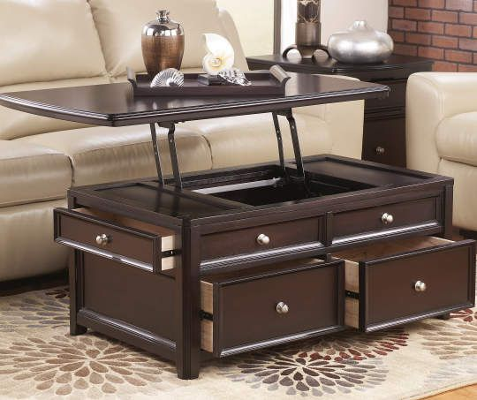 carlyle brown lift top coffee table