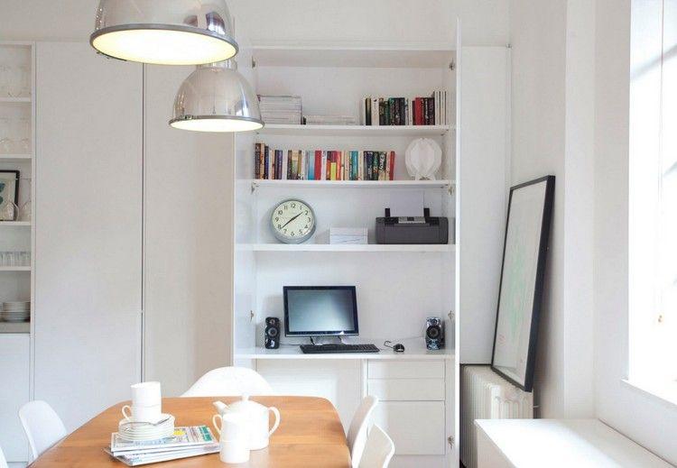 Arbeitsplatz und Drucker im Wohnzimmer verstecken – 14 Ideen ...