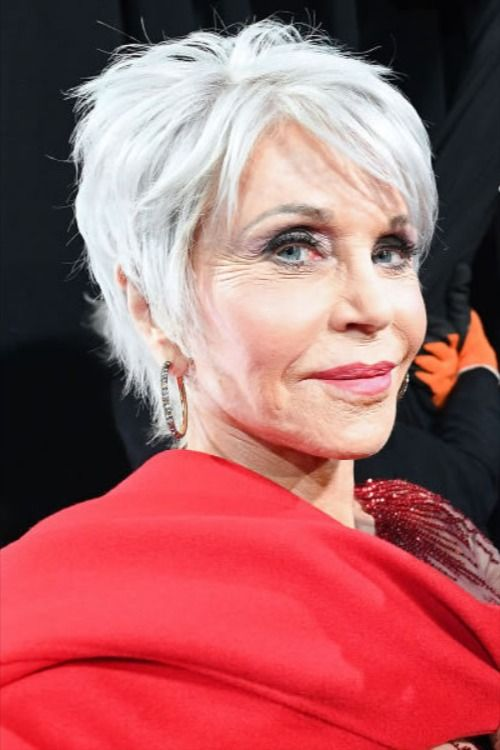 Short haircut grey hair for women over 60 in 2020 | Haircut gray hair, Short hair older women ...