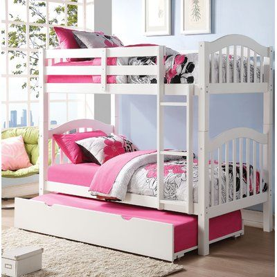 Harriet Bee Beeching Twin Over Twin Bunk Bed With Trundle Bed