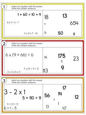 Order of Operations | kids math | Pinterest