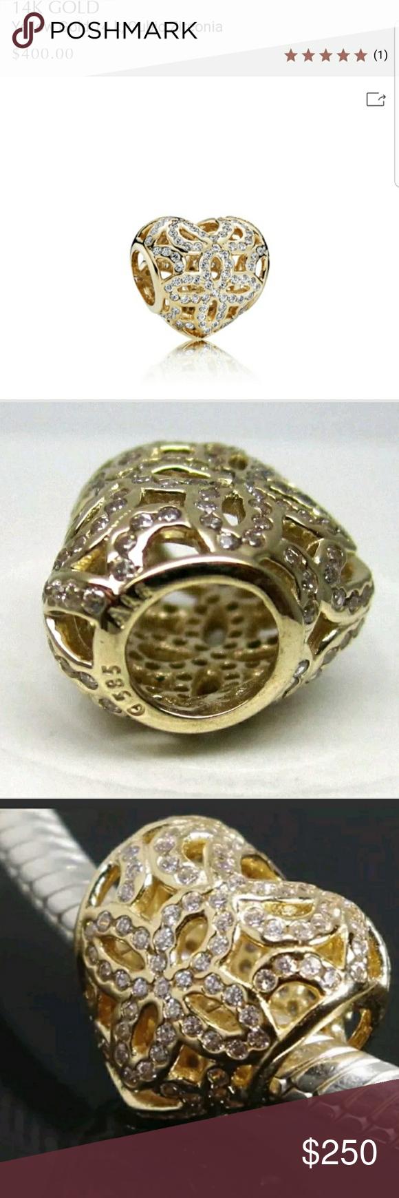 c461e4bc8 Authentic Pandora 750837CZ 14K Yellow gold. NEW! Description Pandora  750837CZ Bead/Charm Love