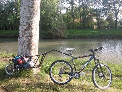 Paul S Heavy Duty Steel Trailer Campfirecycling Com Bicycle Trailer Bike Cargo Trailer Tricycle Bike