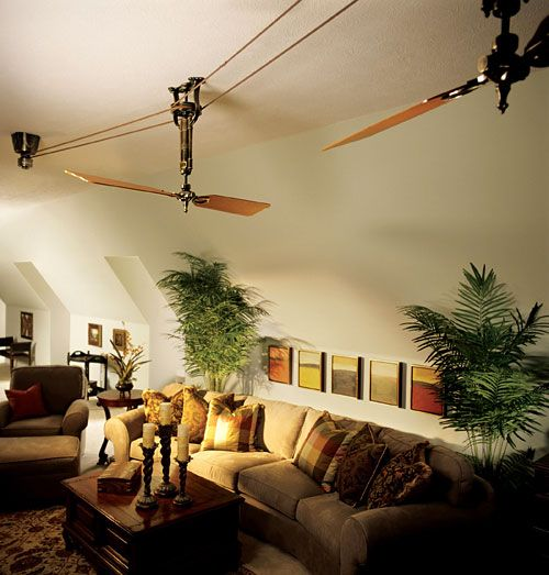 I would love an old fashioned belt ceiling fan - I even invision