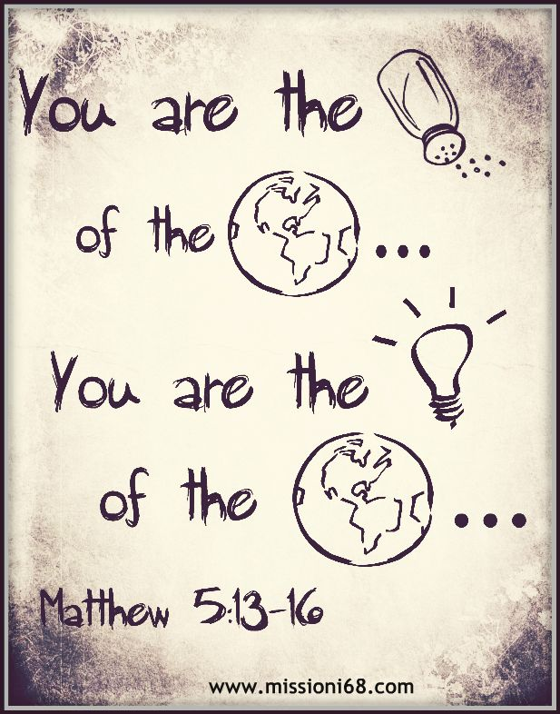 Lessons From Matthew 5 Salt And Light Salt Light Bible