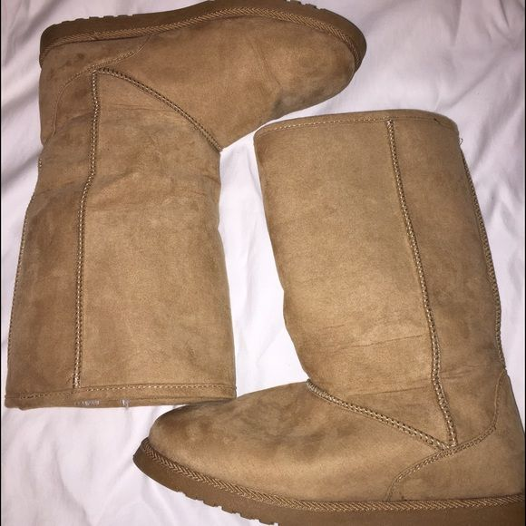 add029e8821 Light brown tall ugg look a like NOT REAL UGGS Light brown, never ...