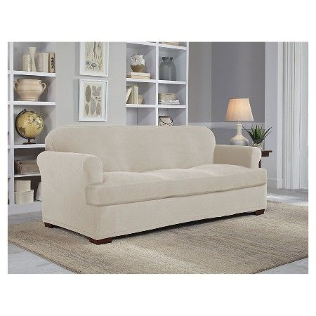 Stretch Grid Sofa Slipcover   Serta : Target