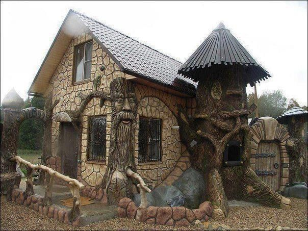 Fun house in Efteling, Holland.