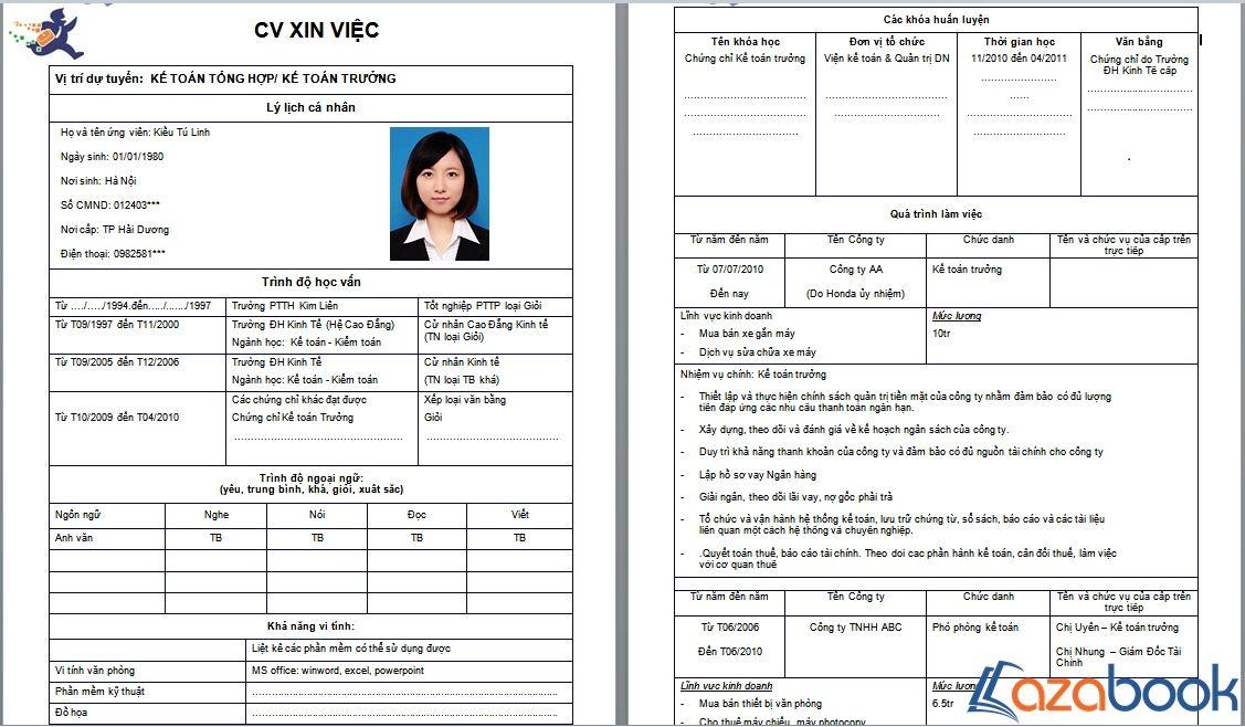 Cv xin việc kế toán CACH VIET CV XIN VIEC Pinterest - bill gates resume