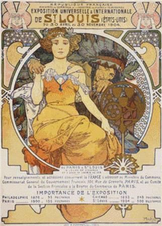 click here to view larger image of Art Nouveau Colour Lithograph Poster Showing a Seated Woman Clasping the Hand of a  Native American (chart)