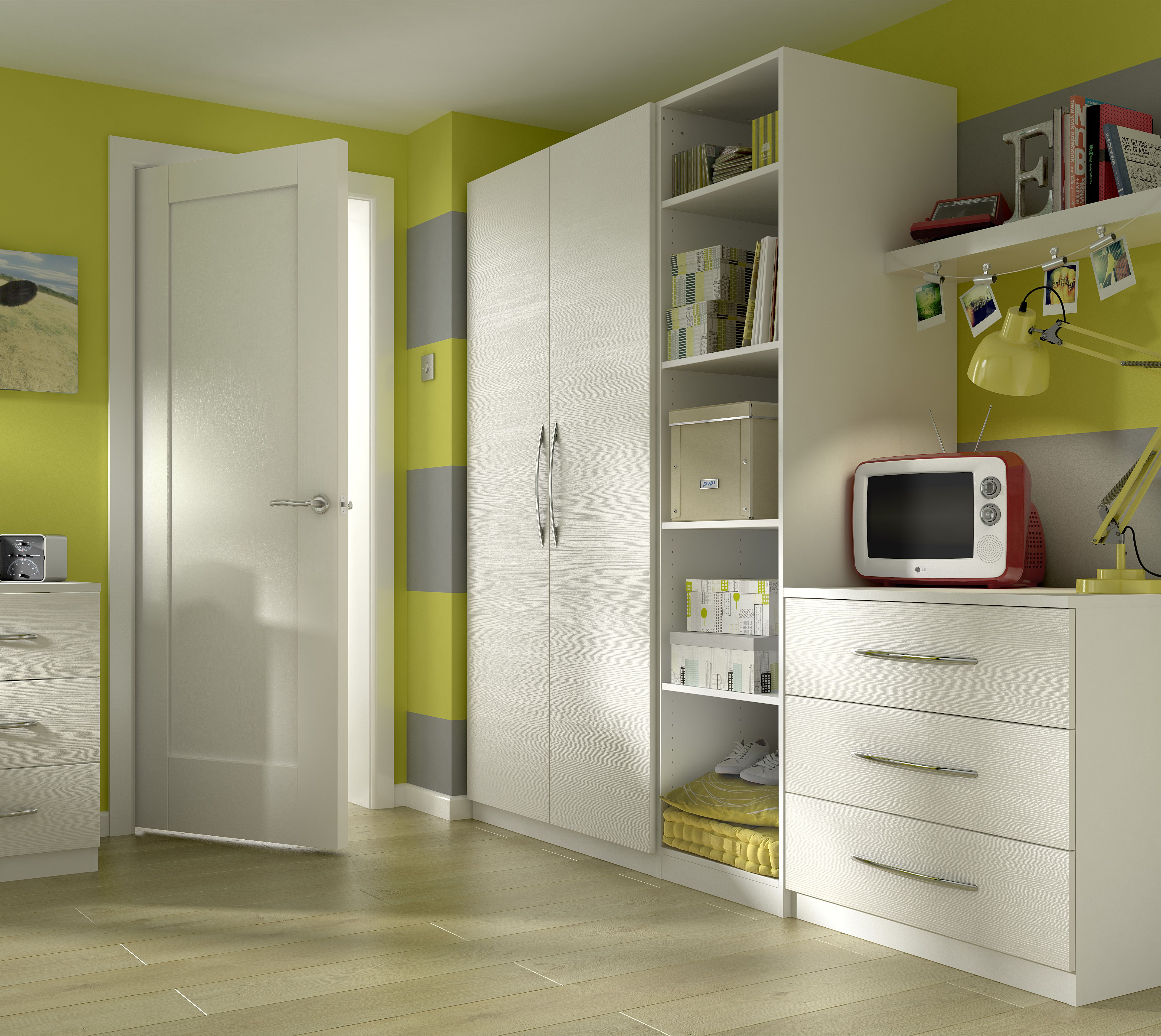 Perfect For A Teenager, This White Gloss Bedroom Furniture