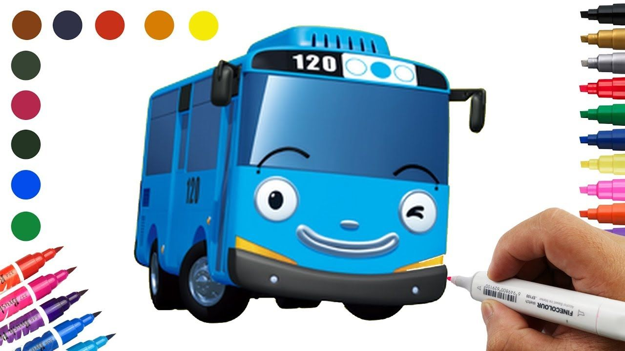 Cars How To Draw A Bus For Kids Cartoon School Bus School Bus