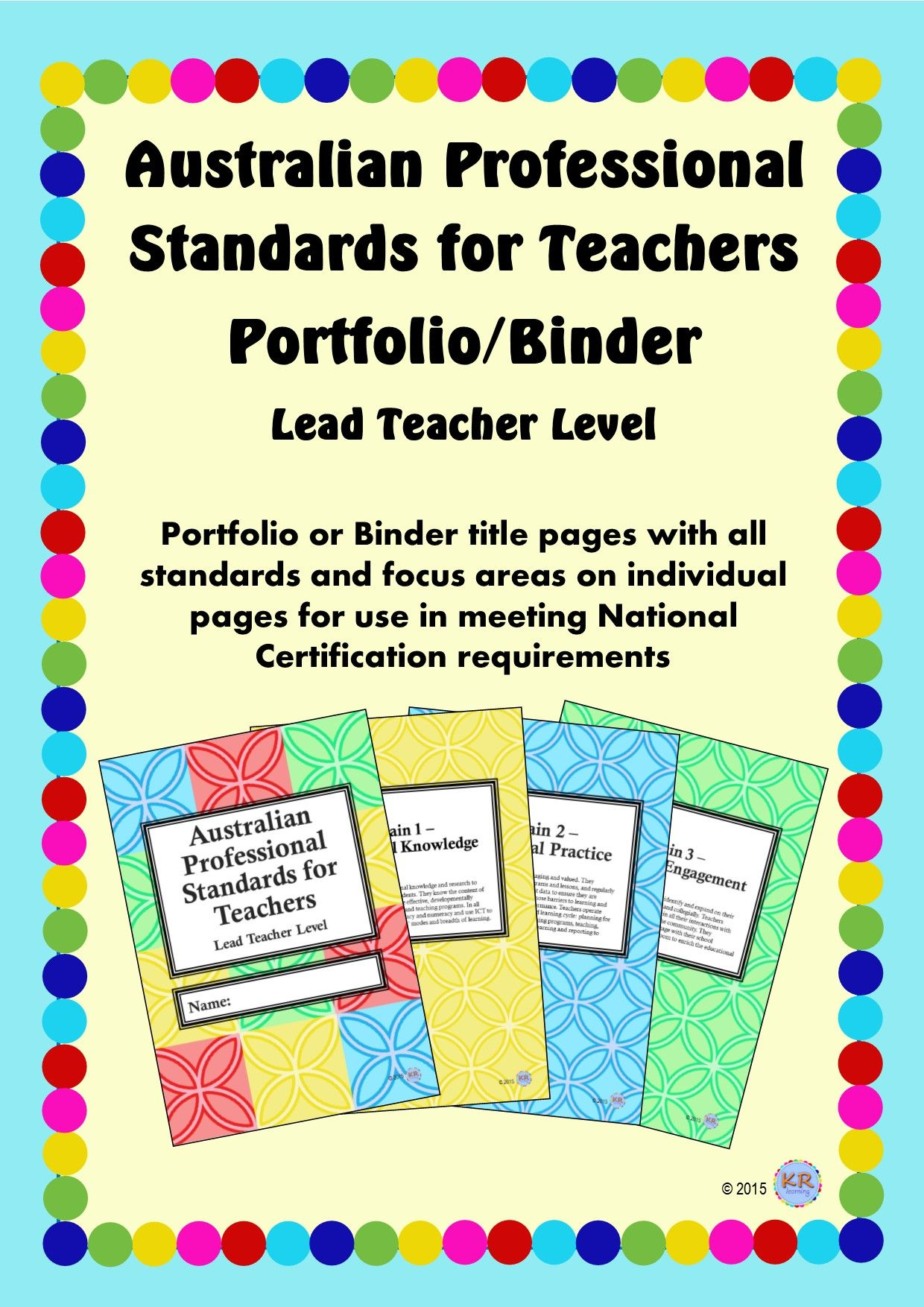 Lead teacher level australian professional standards for australian professional standards for teachers binderportfolio highly accomplished teacher level are you preparing for national certification as a highly 1betcityfo Choice Image