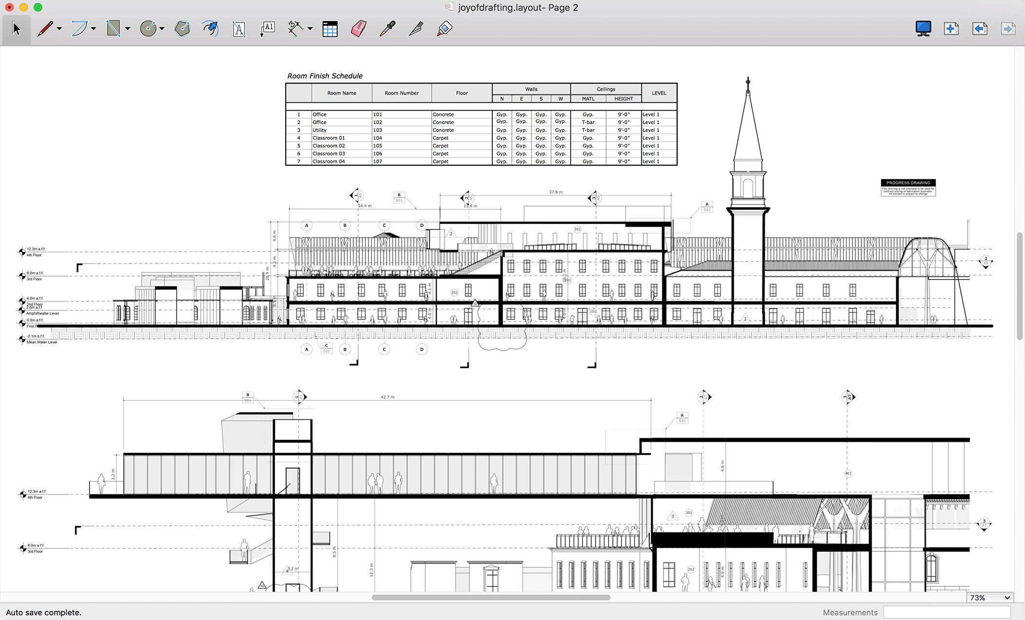 sketchup - layout tabelas
