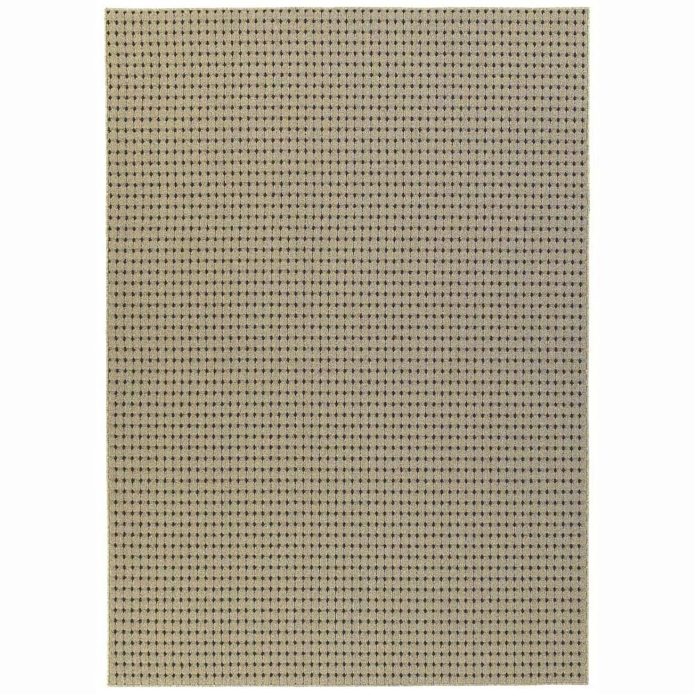 Modern Contemporary Area Rug New Carpet Tan 7x9 8x10 Dots Stitched Lines 199 With Images Area Rugs Contemporary Area Rugs
