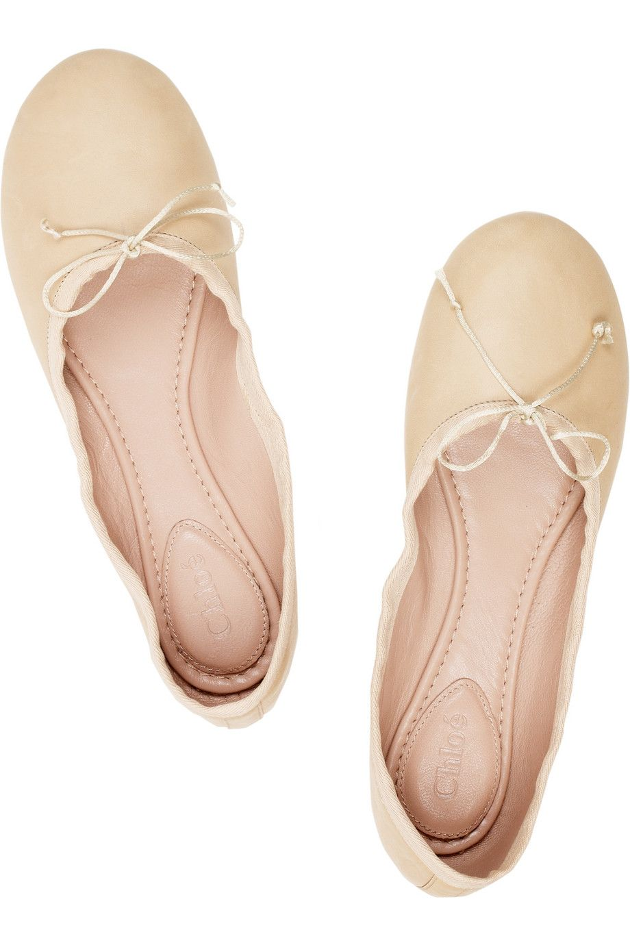 84d3b4233 chloe leather ballet flats. i die. | Shoes | Leather ballet flats ...