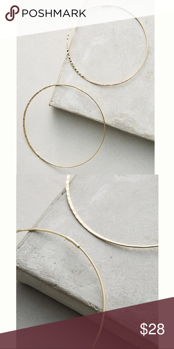 Anthropologie Slender Hoop Earrings esxNgYWp0