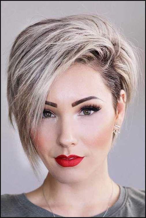 Besten geschichteten kurzen Haarschnitte für runde Gesicht ...