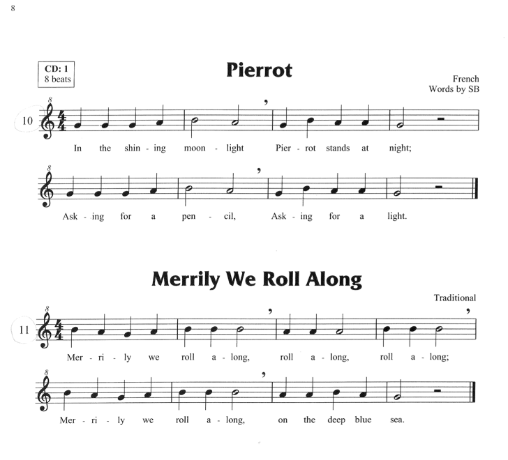 merrily we roll along music notes for recorder - Google Search ...