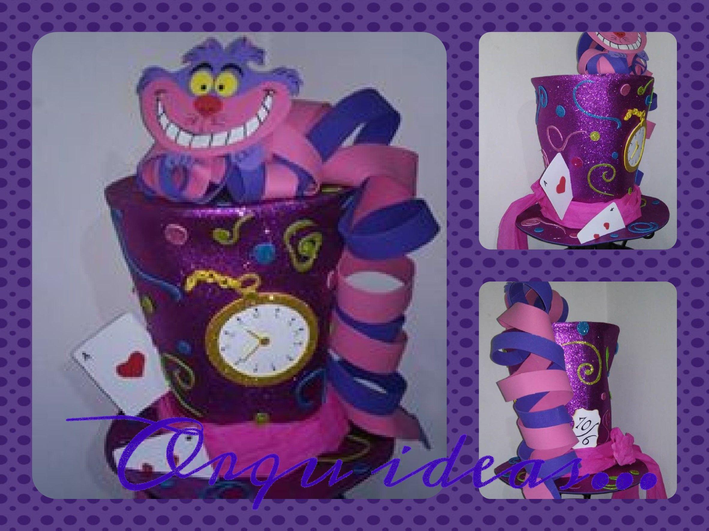 Sombrero de Sombrerero Loco con gato Cheshire.. | crazy hat day ...