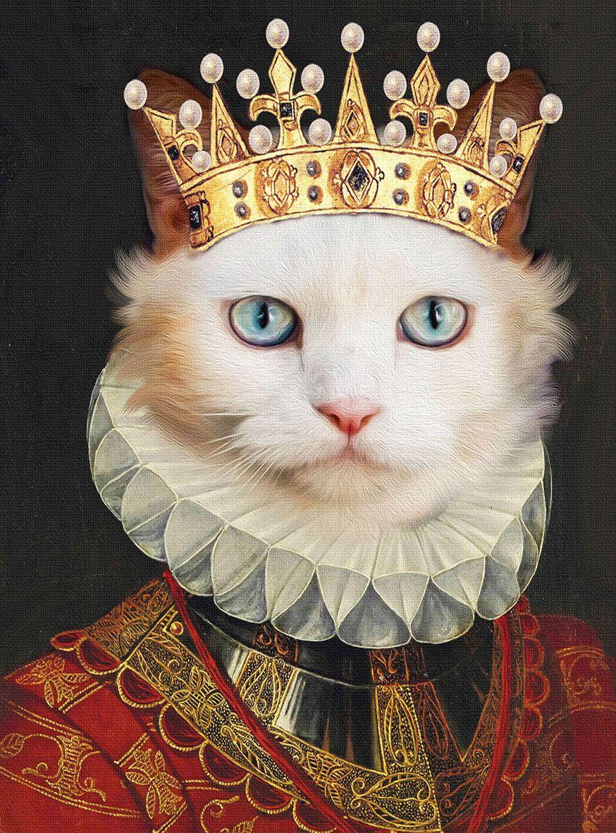 Custom cat portrait,cat portrait custom,royal cat portrait