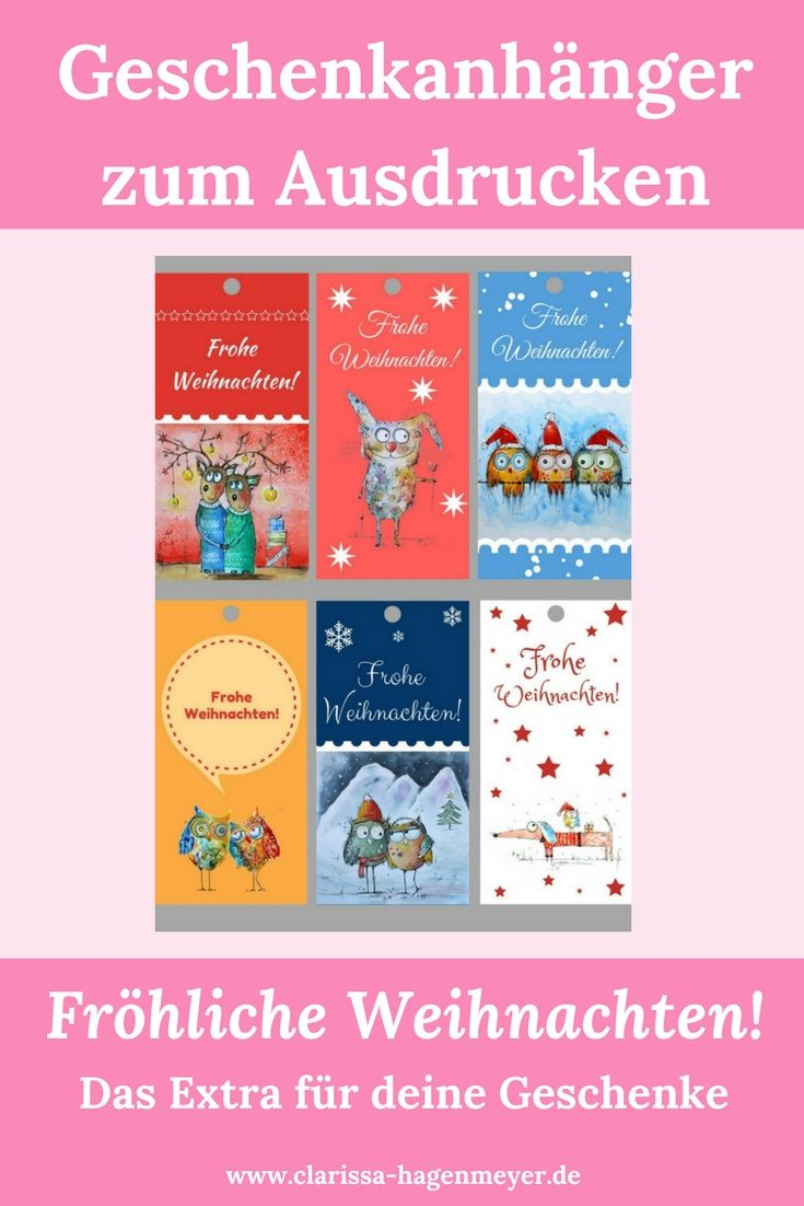 Geschenkanhänger zum Ausdrucken für Weihnachten: Hier downloaden ...