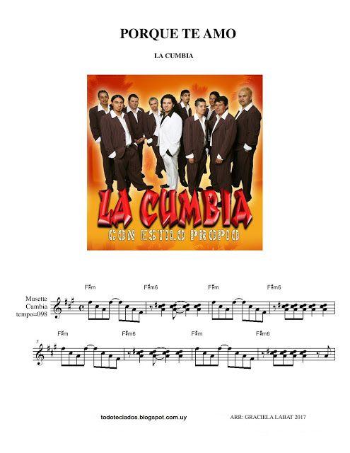 Porque Te Amo La Cumbia Cumbia Guitarra Partituras Partituras