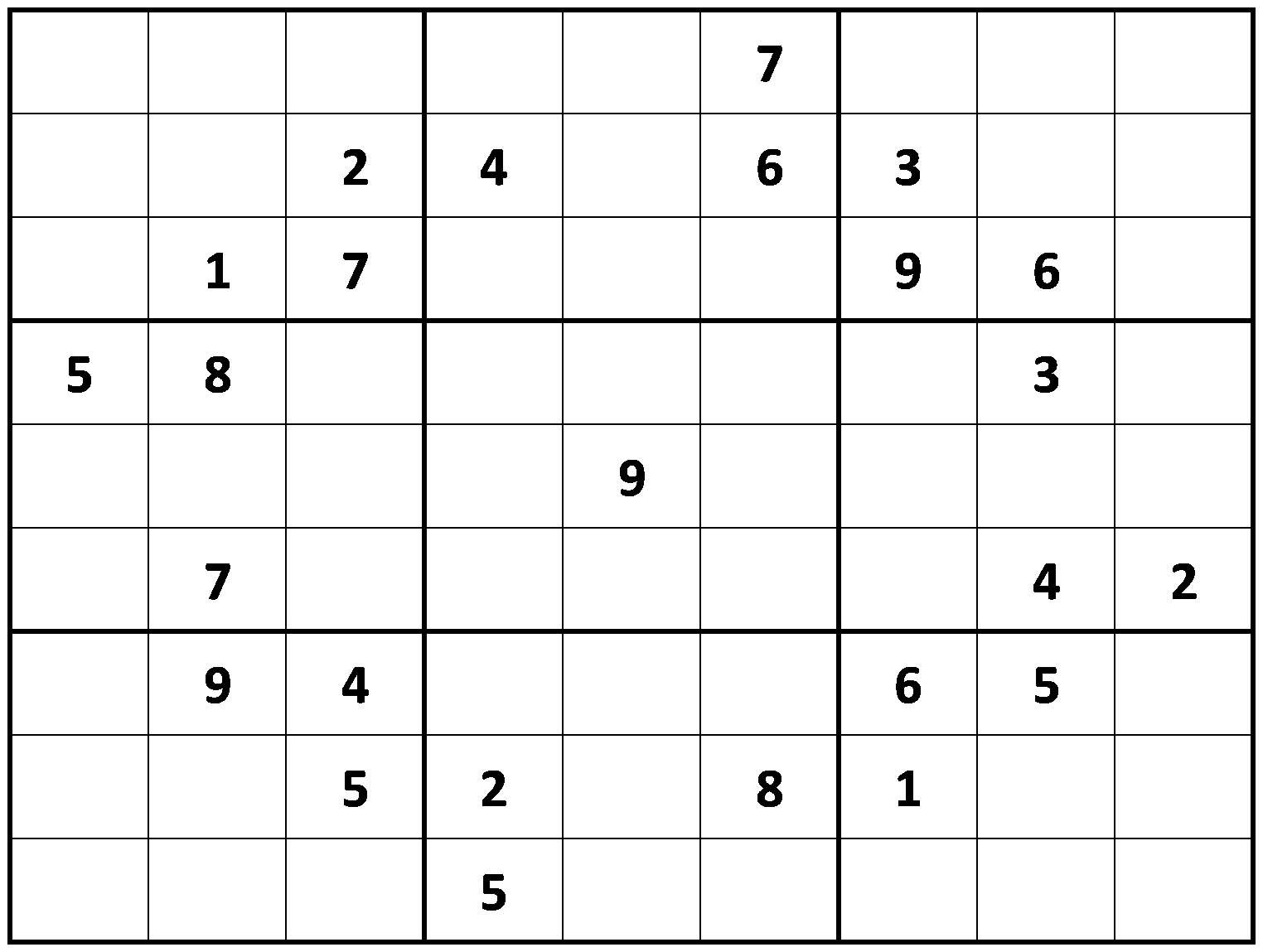 picture regarding Sudoku Printable Hard named Printable Demanding Sudoku PRINTABLE - Unachievable SUDOKU PUZZLES