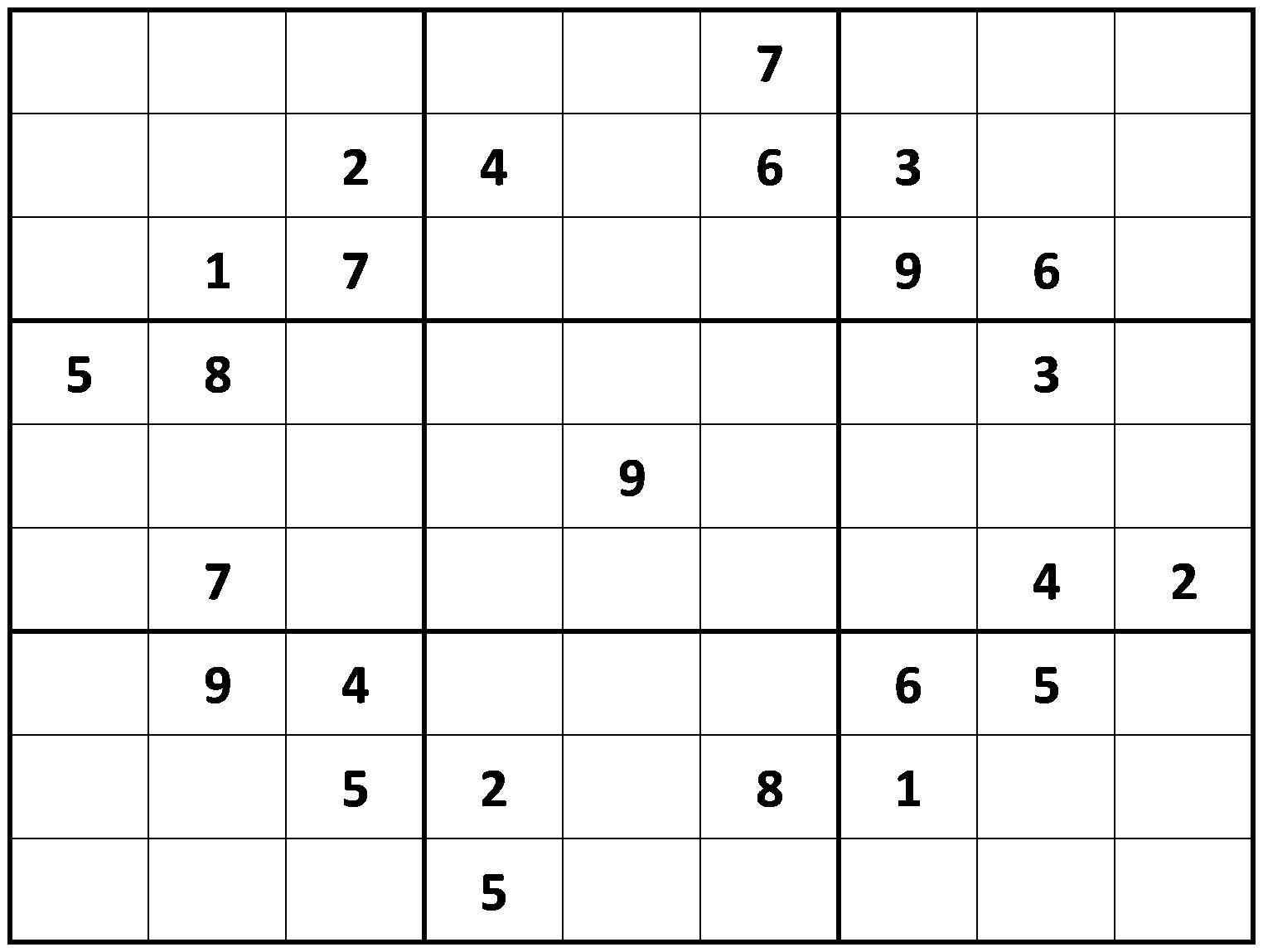 Printable Hard Sudoku Printable