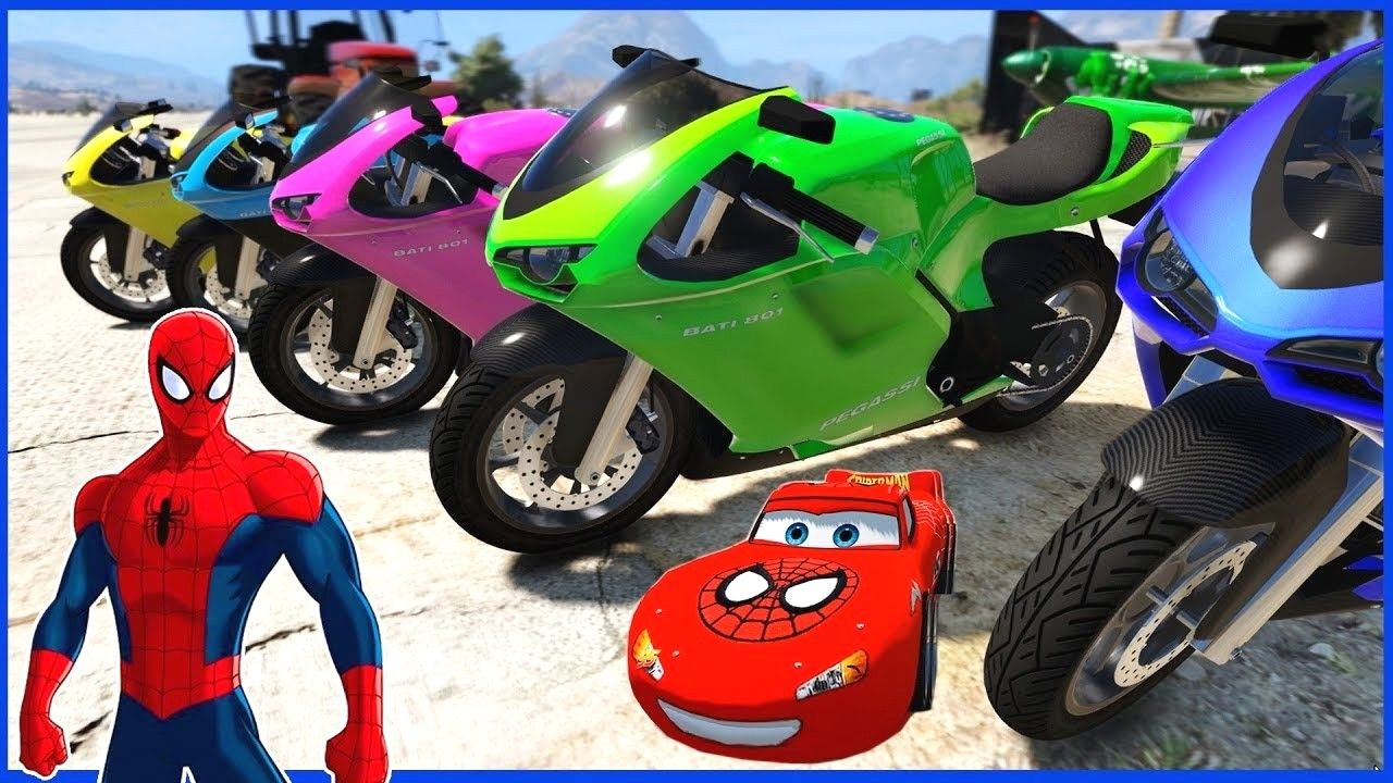 Colores Moto Para Ni Os Con Spiderman Videos Divertidos Para Ni Os Avec Maxresdefault Et Spiderman Con La Moto 12 1280x720px Spiderman Con La Moto