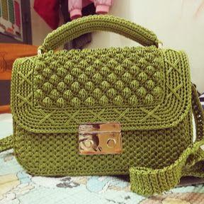 HƯỚNG DẪN MÓC TÚI LEN  (túi bắp quay xích)- How to crochet bag ? part 1