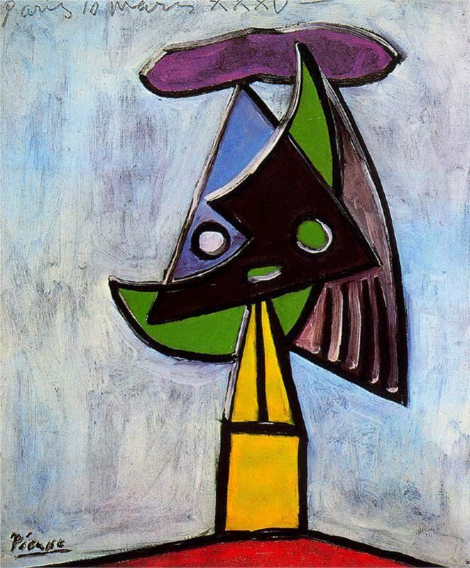 Pablo Picasso Head Of A Woman Olga Picasso 1935 Avec Images