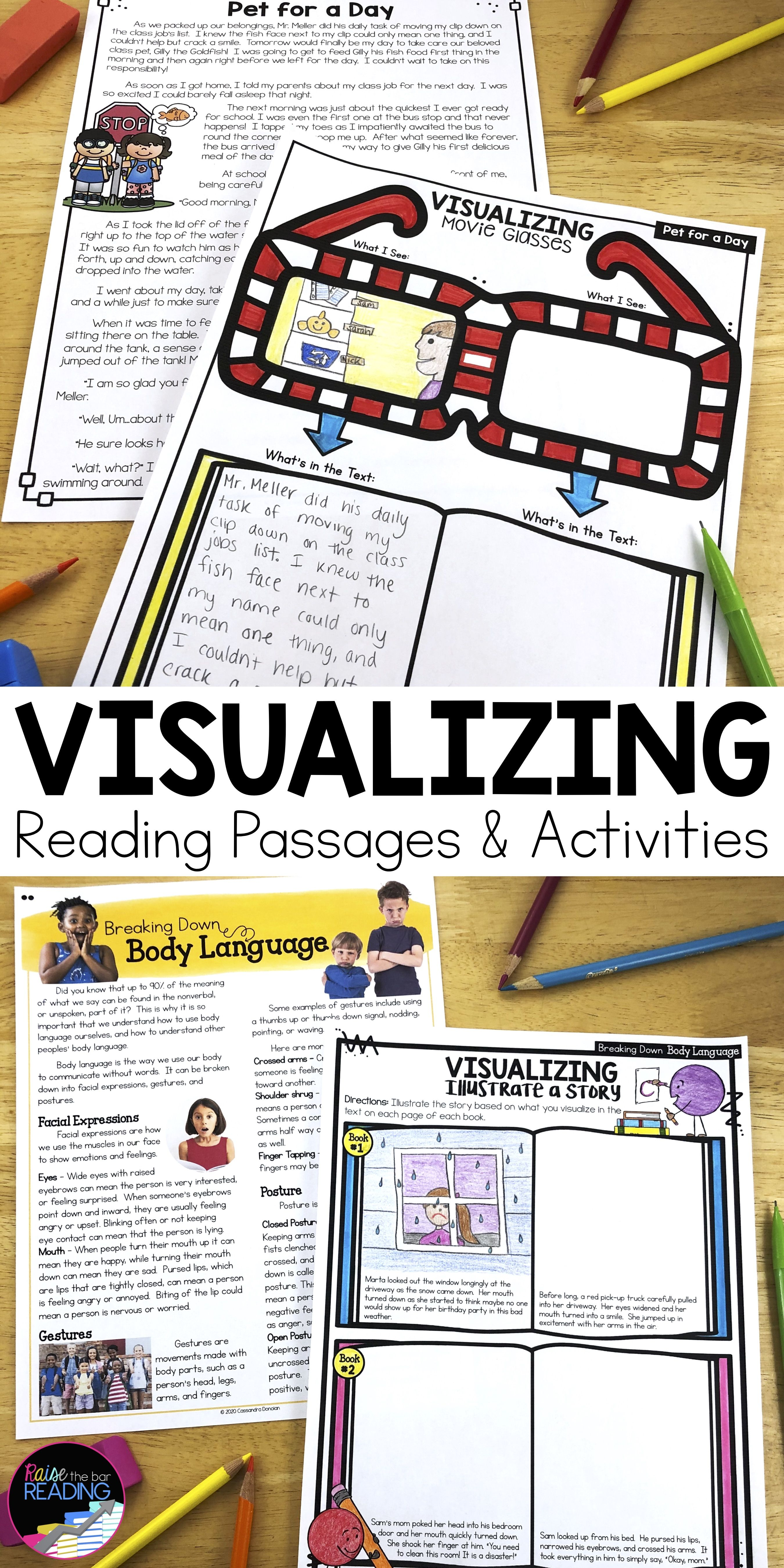 Visualizing Reading Strategy Reading Comprehension Passages And Questions In 2020 Reading Strategies Reading Passages Reading Comprehension Passages