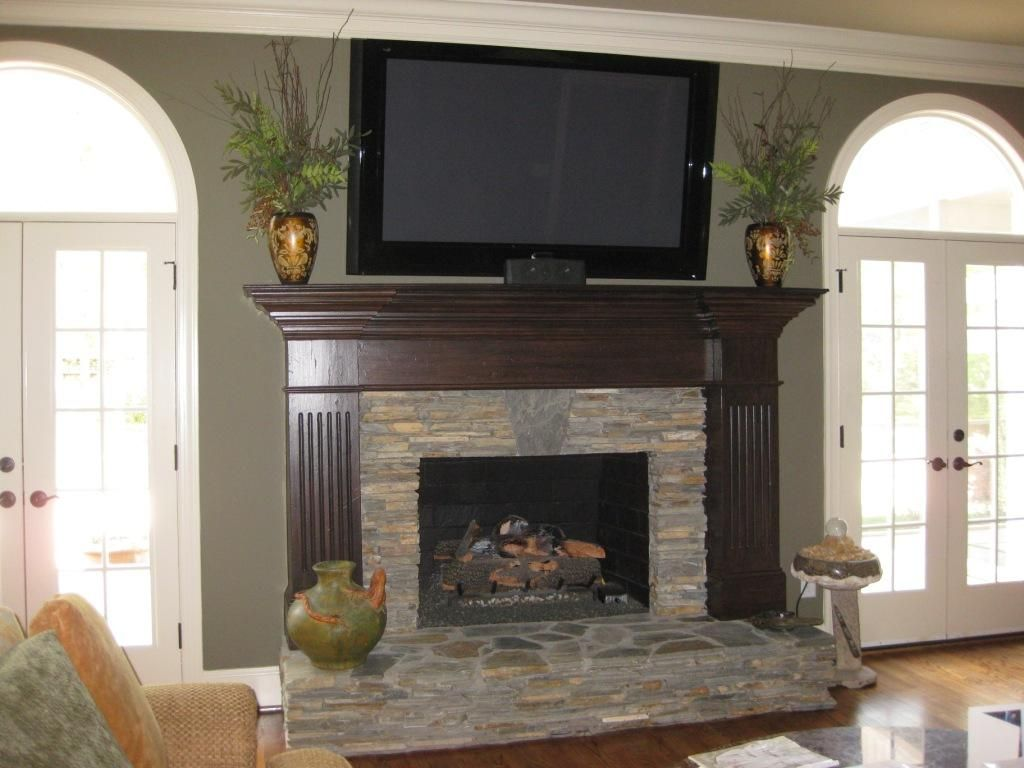 This Huge Fireplace Wall Makes An Even Bigger Statement Now That